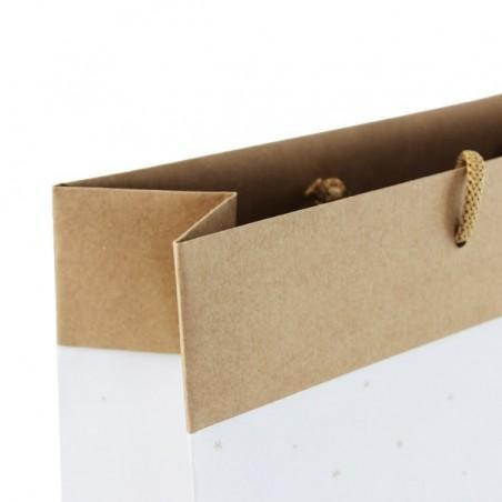 Papírová taška bílá Totwist - detail ucho