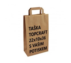 Papírová taška bílá Takeaway 36x32x36