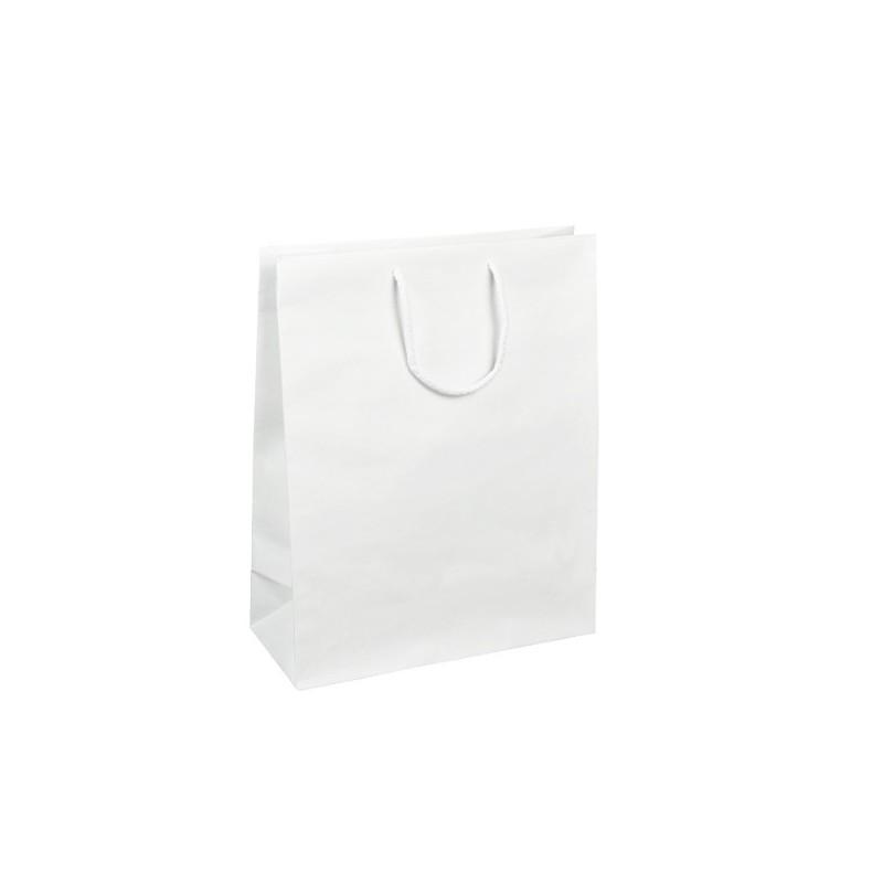 Papírová taška bílá Krafter 25x14x30
