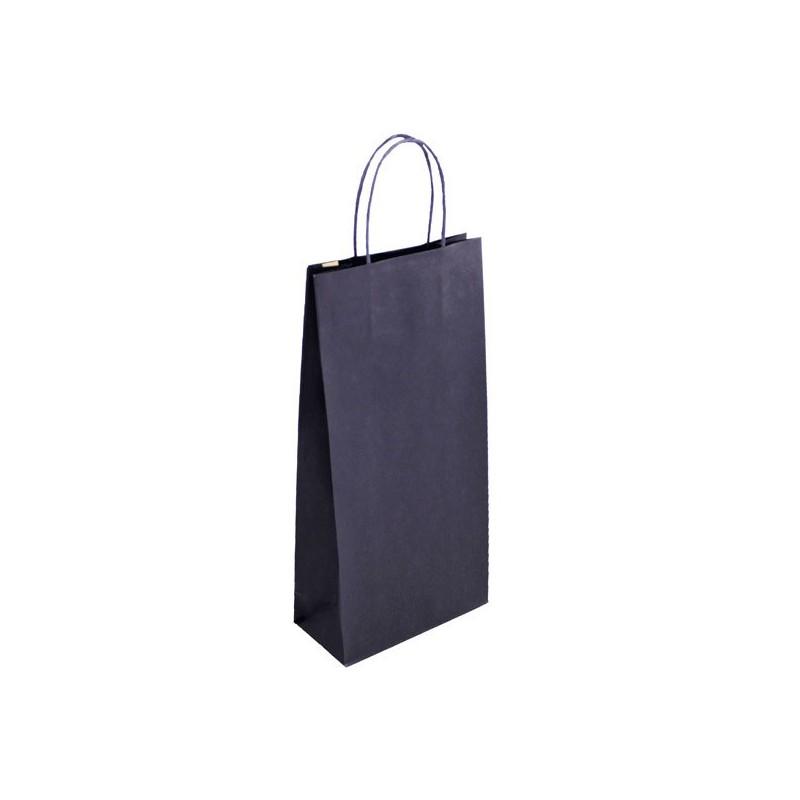 Taška na víno modrá Blu Glass 18+9x39