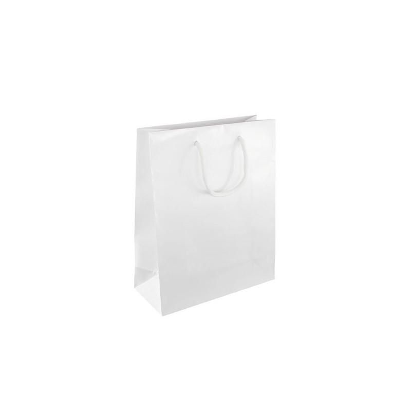 Dárková taška bílá Milano 25x11x31