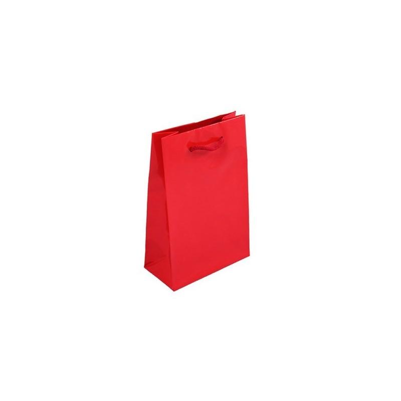 Dárková taška červená Milano 16x8x24