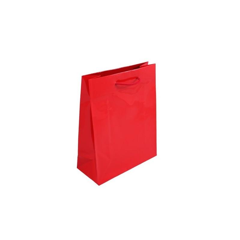 Dárková taška červená Milano 25x11x31
