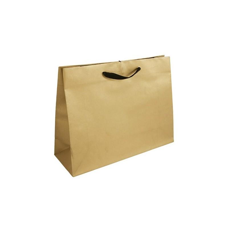 Papírová taška hnědá Totwist 24x11x31