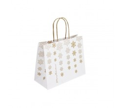 Vánoční taška bílá Kristal 25x11x20