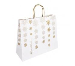Papírová taška bílá Totwist 32x14x42