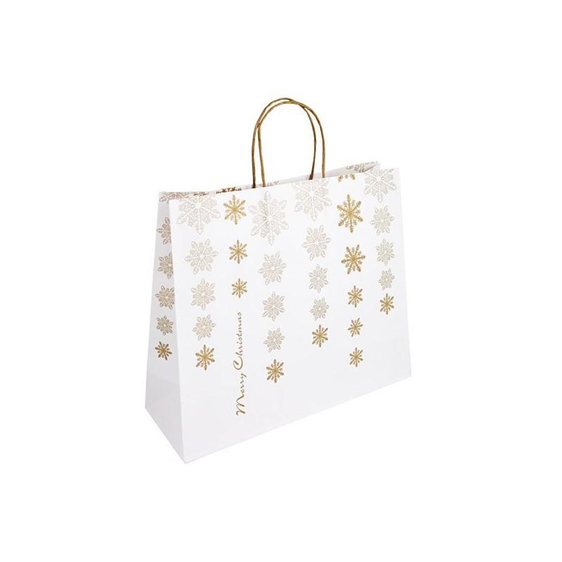Vánoční taška bílá Kristal 36x12x30