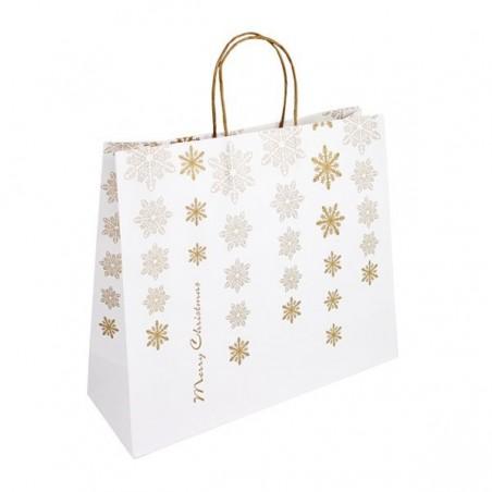 Papírová taška bílá Toptwist 32x14x42