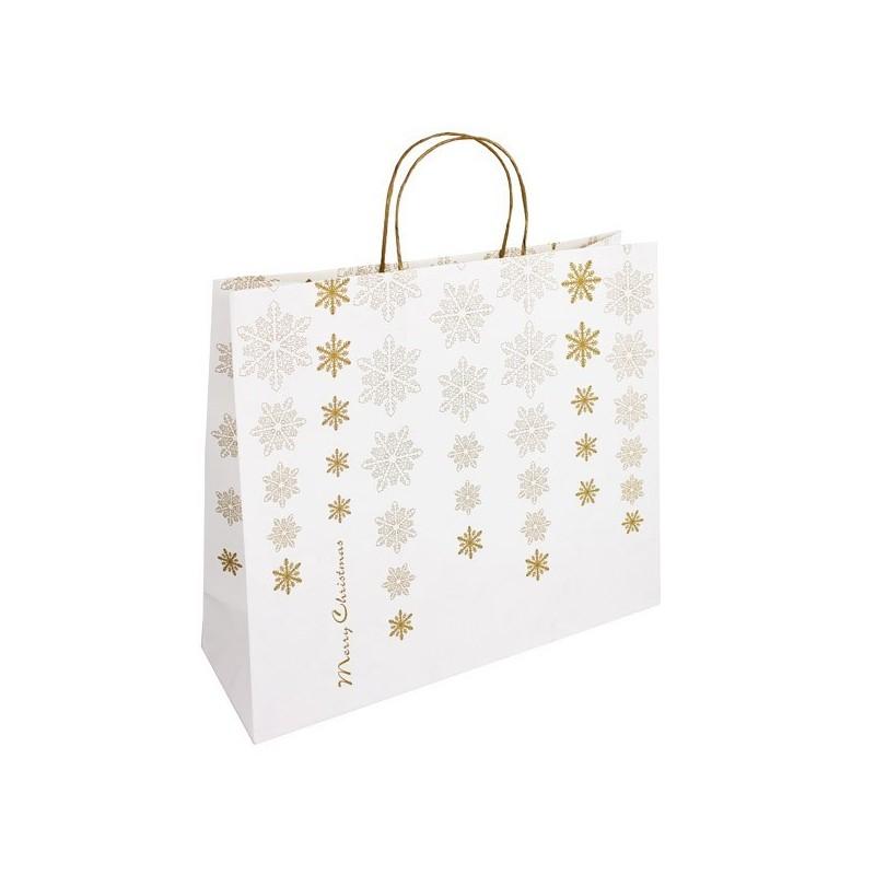 Vánoční taška bílá Kristal 45x14x38
