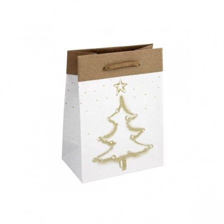 Papírová taška bílá Totwist 45x17x48