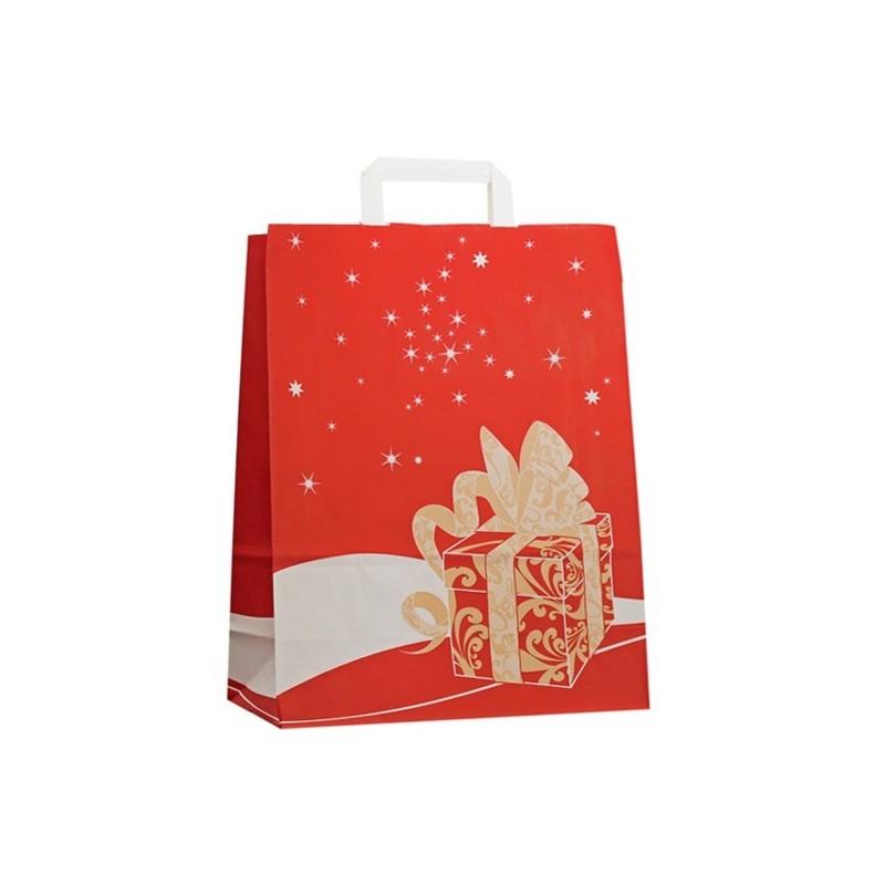 Vánoční taška červená Gift 32x14x42