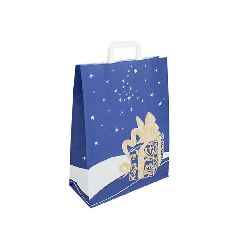 Vánoční taška modrá Gift 32x14x42