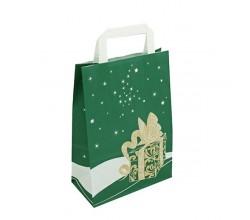 Vánoční taška zelená Gift 20x10x28