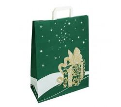 Vánoční taška zelená Gift 32x14x42