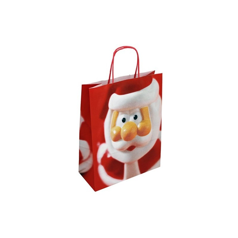 Vánoční taška červená Santa 24x11x31