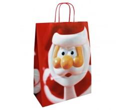 Vánoční taška červená Santa 32x14x42