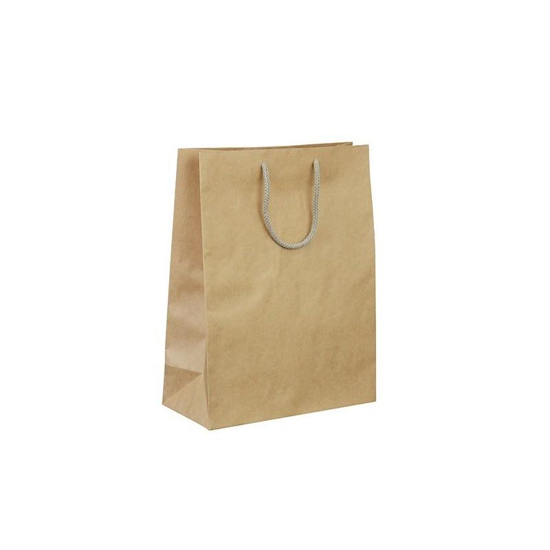 Papírová taška hnědá Siena 26x12x34