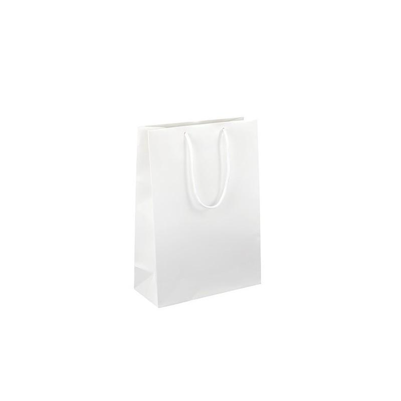 Dárková taška bílá Monza 25x11x35 MAT