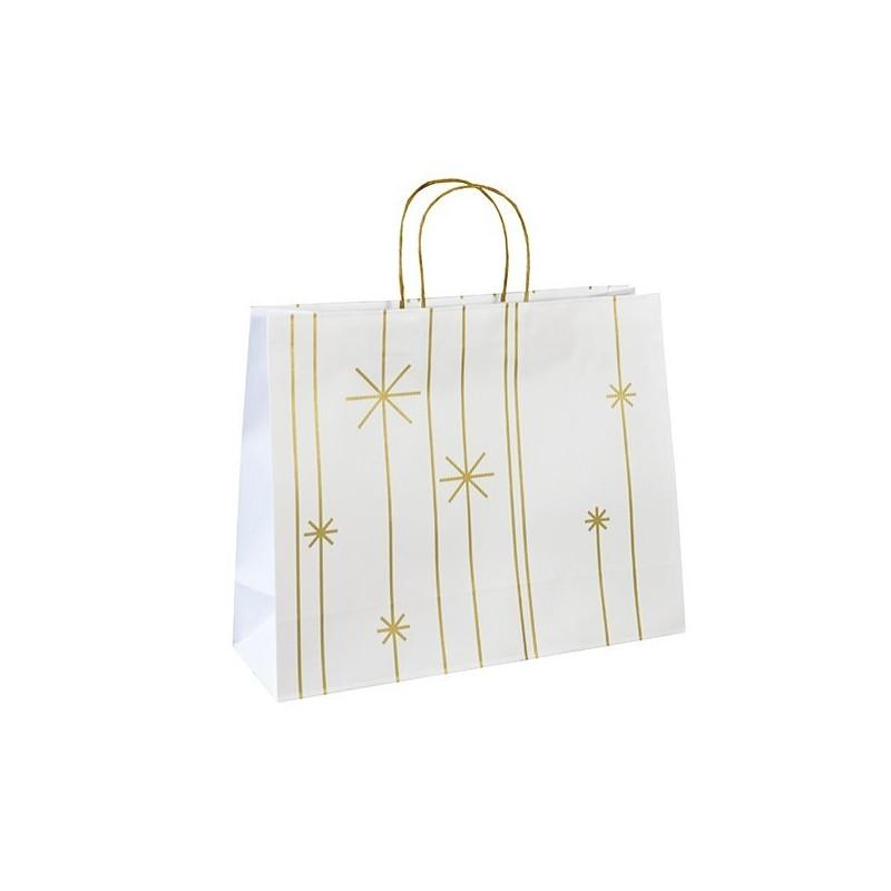 Vánoční taška bílá Star 36x12x30