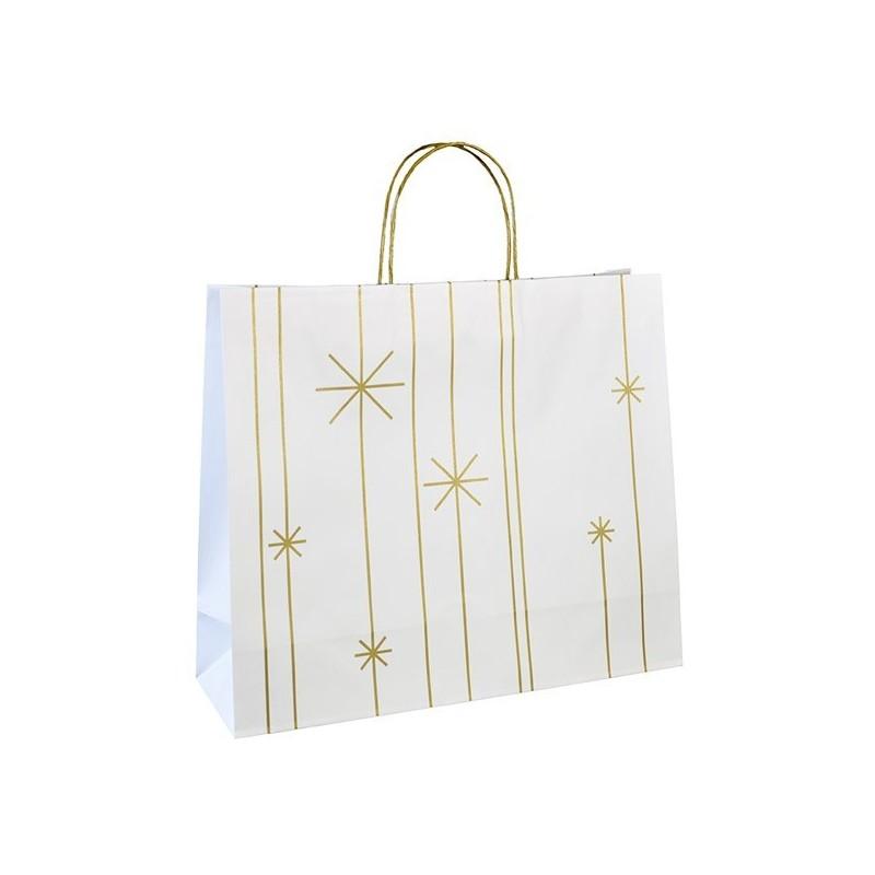 Vánoční taška bílá Star 45x14x38