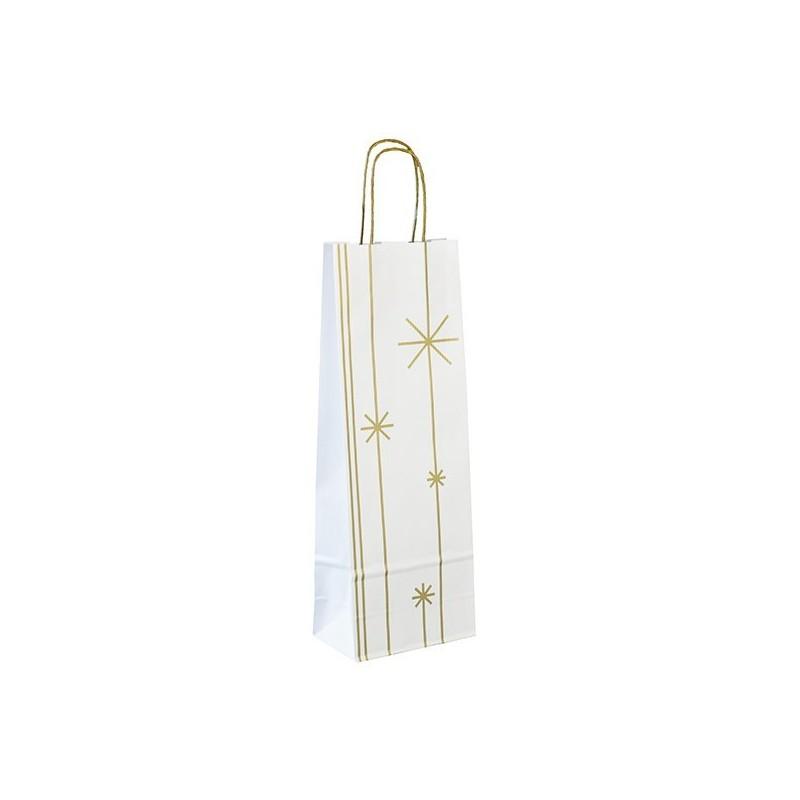 Vánoční taška na víno Star 14x8x39