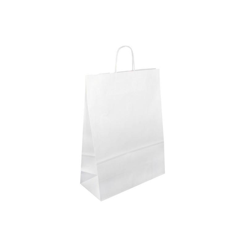 Papírová taška bílá Extratwist 32x12x40