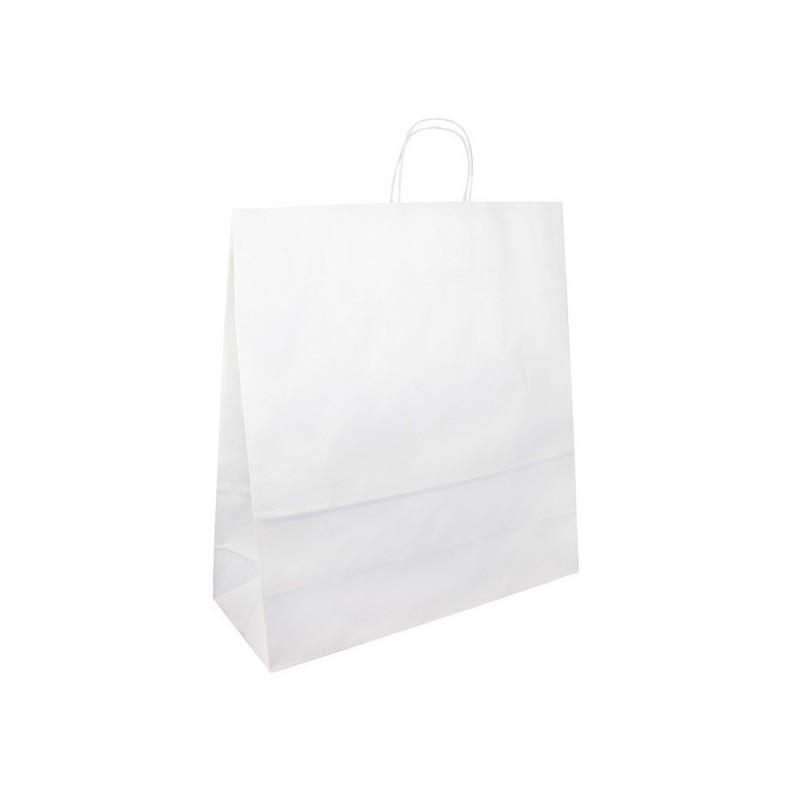 Papírová taška bílá Extratwist 45x16x48