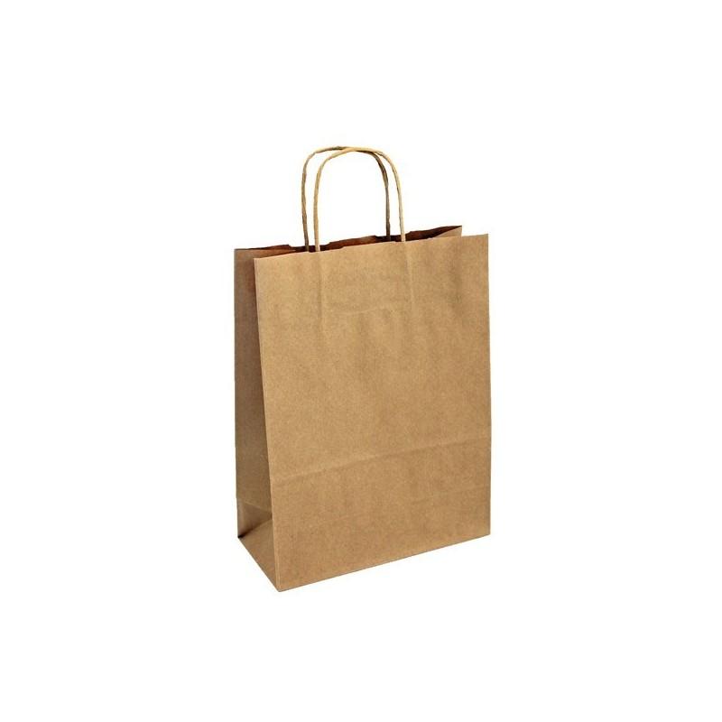 Papírová taška hnědá Extratwist 25x11x32