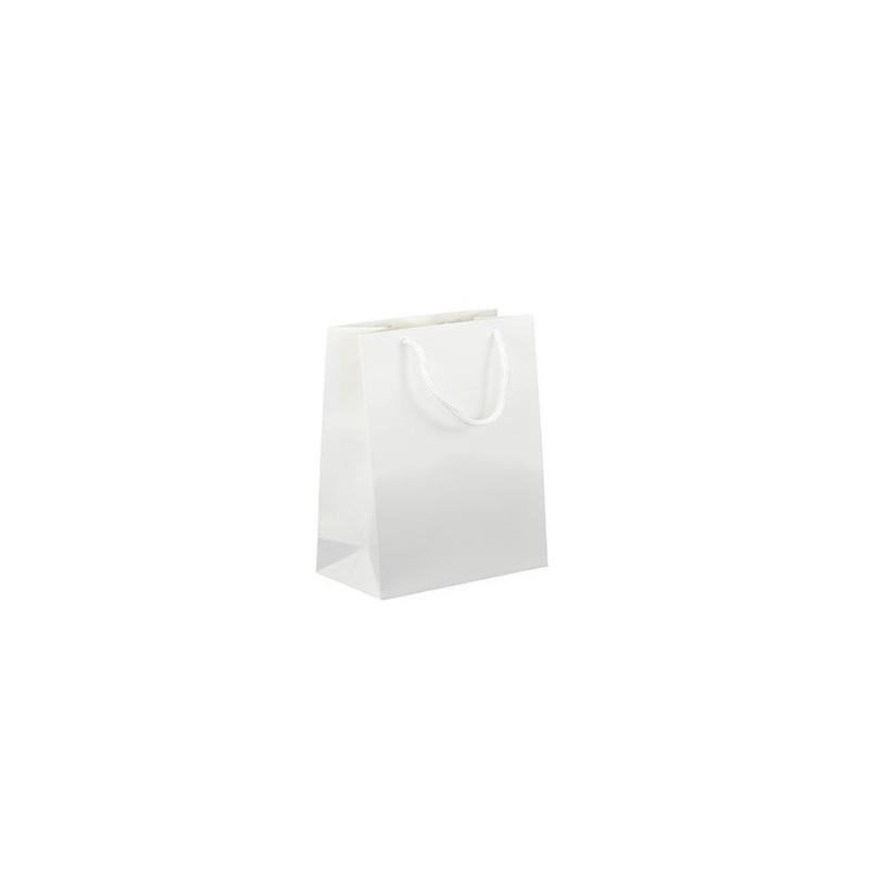 Dárková taška bílá Monza 16x9x19 LESK