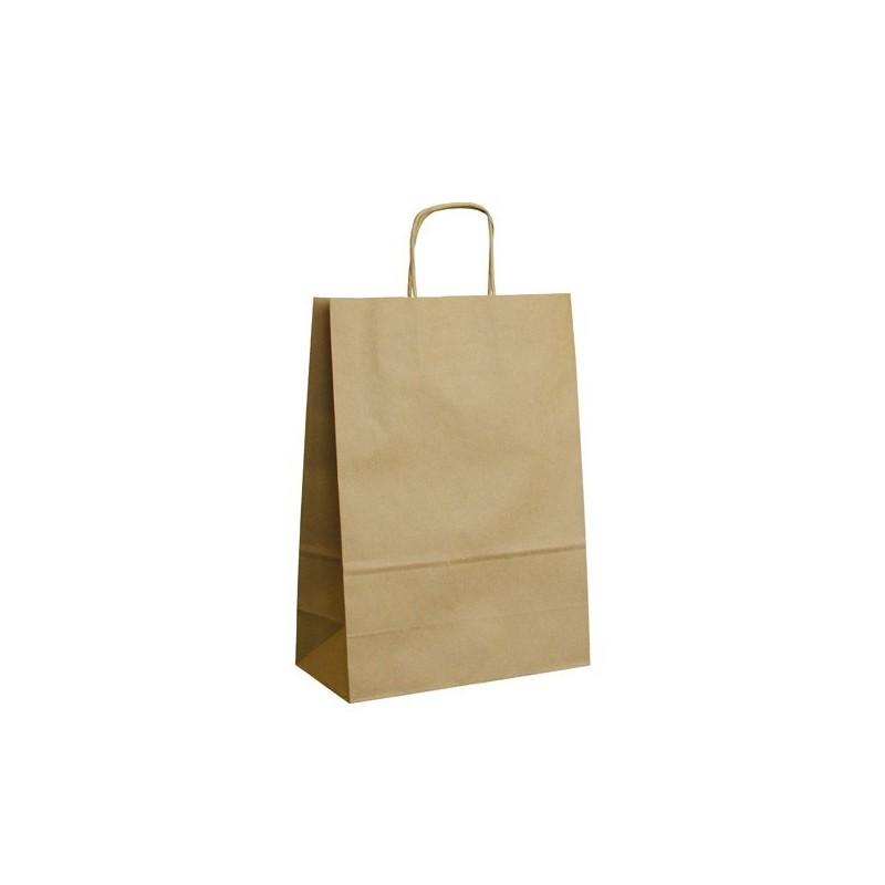 Papírová taška hnědá ExtraTWIST 24x11x33