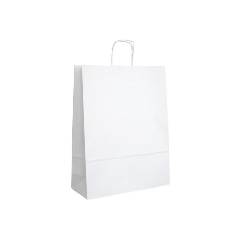Papírová taška bílá ExtraTWIST 32x12x41