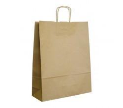 Papírová taška hnědá ExtraTWIST 32x12x41