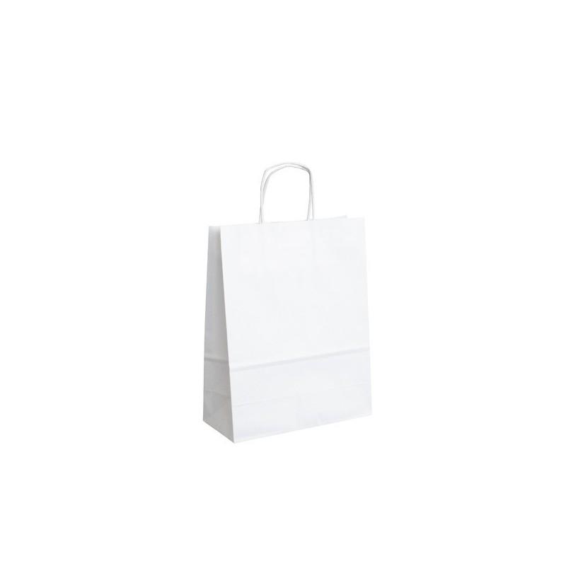 Papírová taška bílá ExtraTWIST 22x10x28
