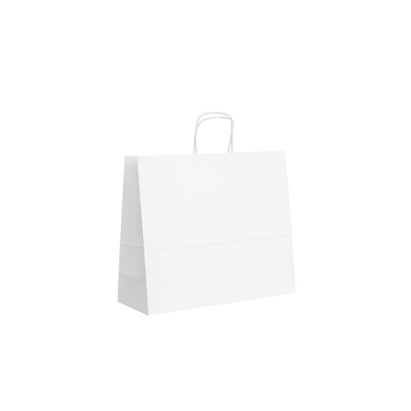 Papírová taška bílá ExtraTWIST 34x12x29
