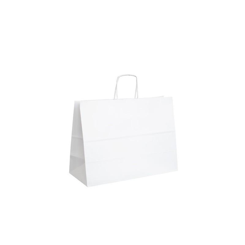 Papírová taška bílá ExtraTWIST 35x14x26