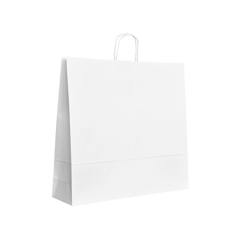 Papírová taška bílá ExtraTWIST 54x15x49