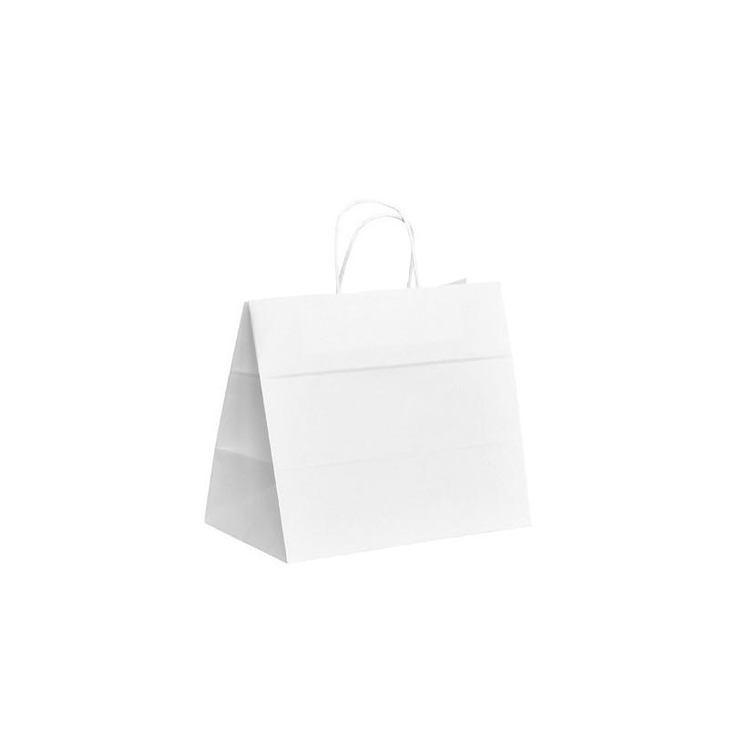 Papírová taška bílá ExtraTWIST 32x20x28