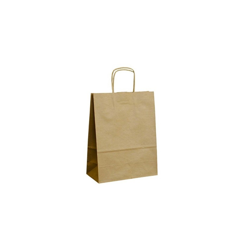 Papírová taška hnědá ExtraTWIST 22x10x28