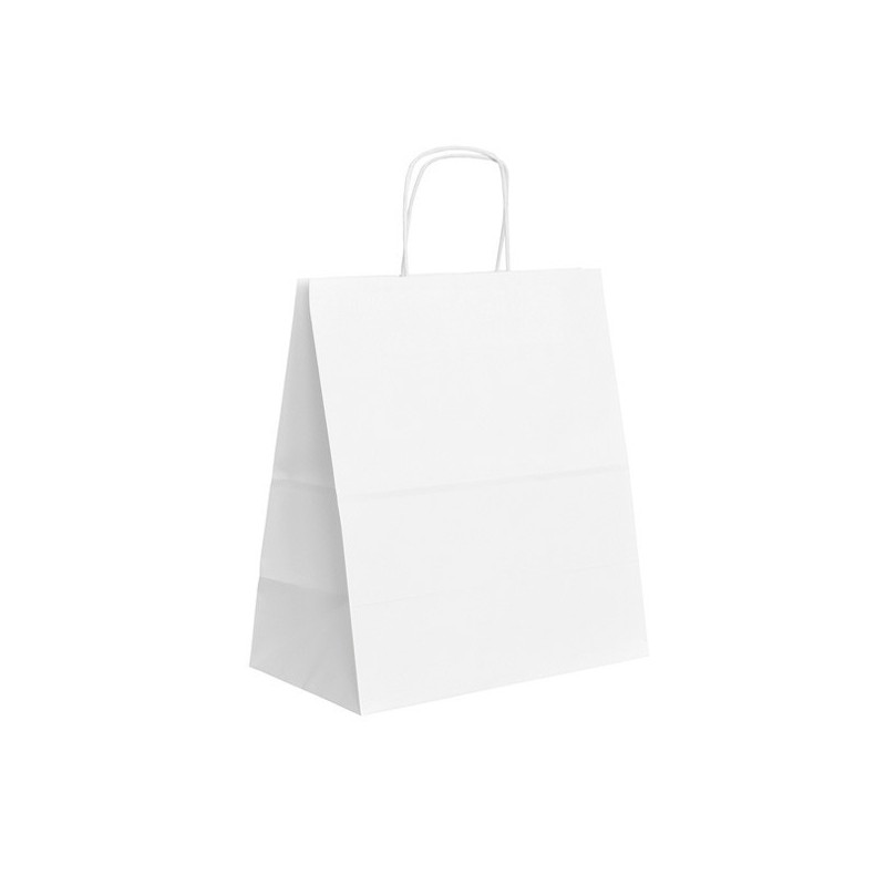 Papírová taška bílá ExtraTWIST 30x17x34