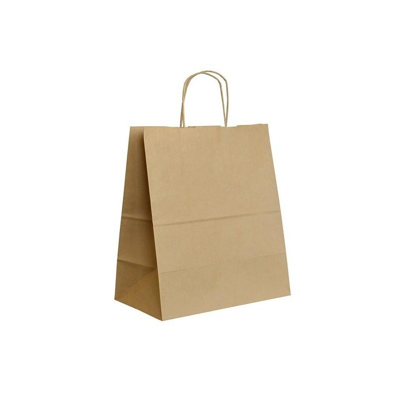 Papírová taška hnědá ExtraTWIST 30x17x34