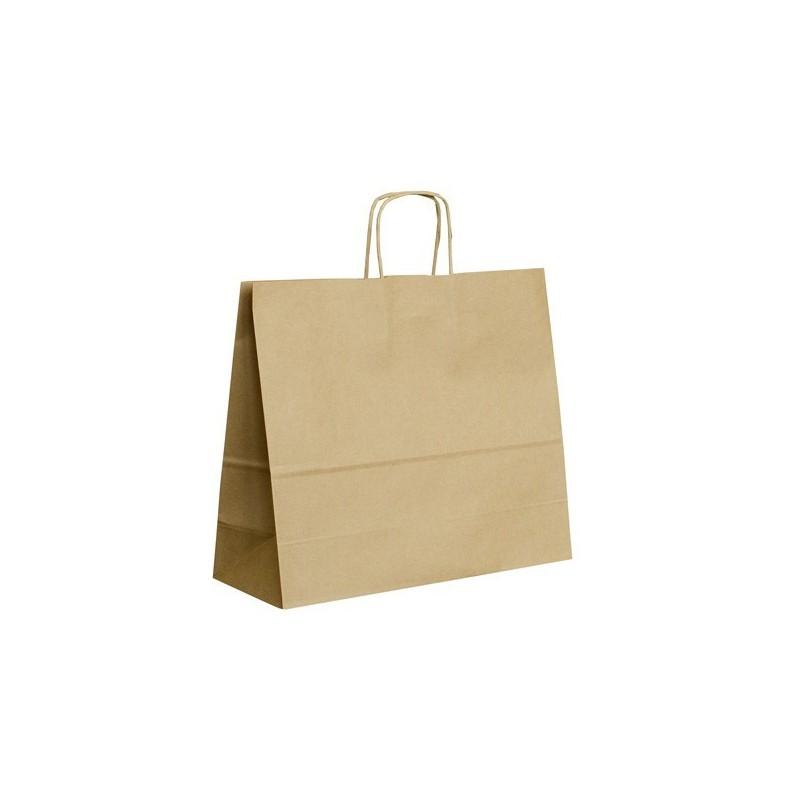 Papírová taška hnědá ExtraTWIST 34x12x29