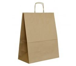 Papírová taška hnědá ExtraTWIST 35x18x44