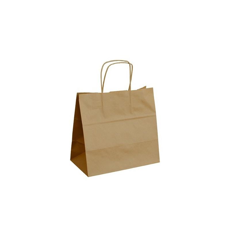 Papírová taška hnědá ExtraTWIST 28x17x27