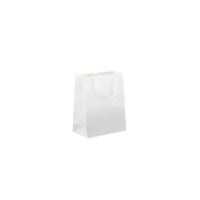 Dárková taška bílá Monza 16x8x19 MAT