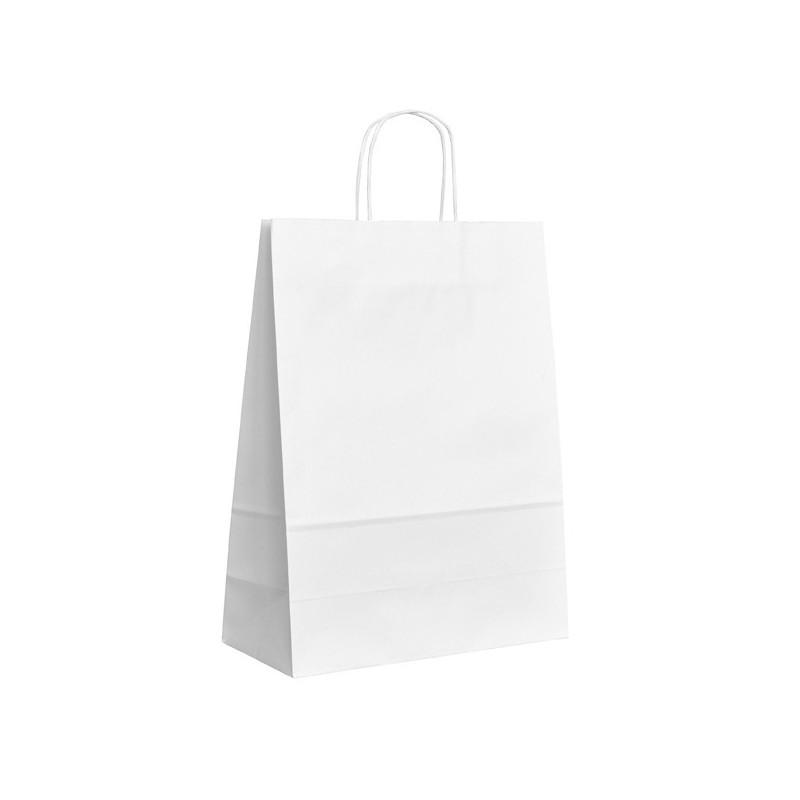 Papírová taška bílá ExtraTWIST 32x14x42