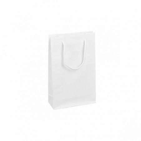 Papírová taška bílá Krafter 22x11x25