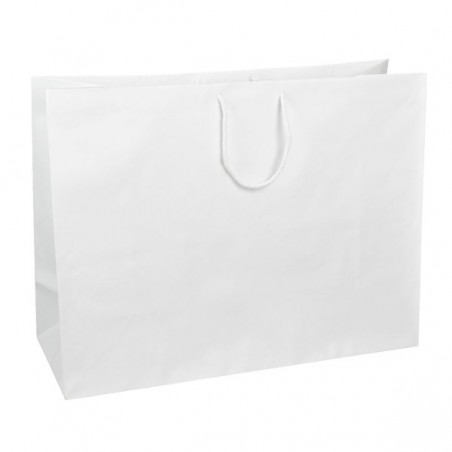 Papírová taška bílá Topcraft 26x14x36
