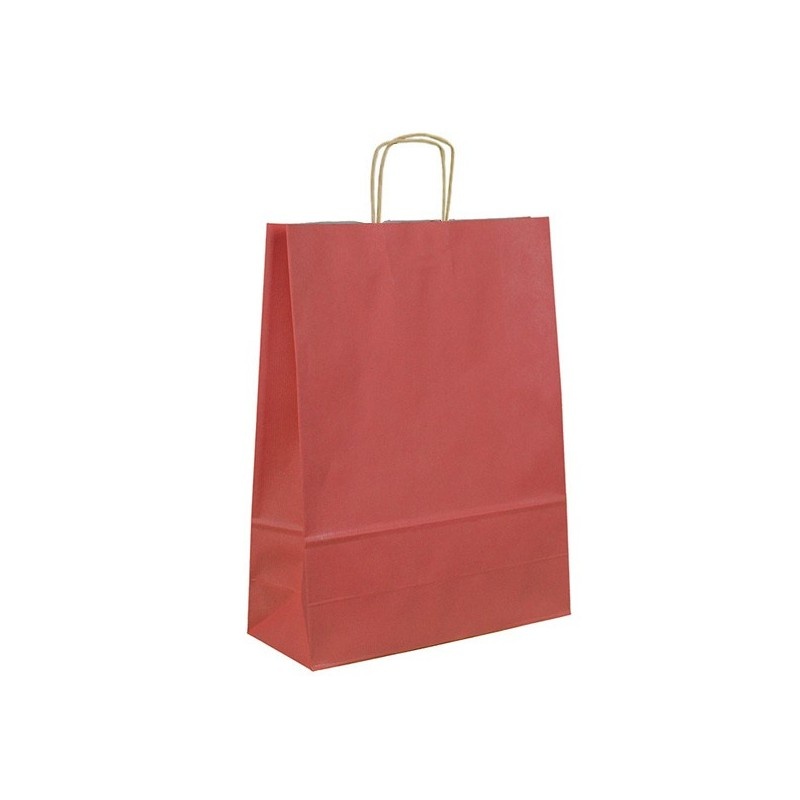 Bavlněná taška červená 140 gr - 38x42 cm