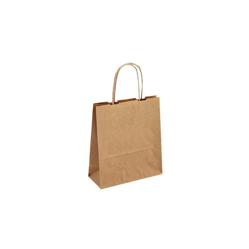 Papírová taška hnědá Toptwist 19x8x21