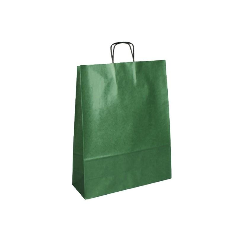 Papírová taška hnědá Extratwist 18x8x21
